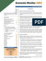Asia Economic Monitor - December 2003