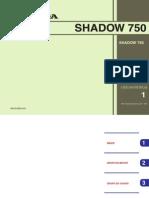 SHADOW 750 - catálogo de pecas
