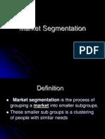Bases of Market Segmentation