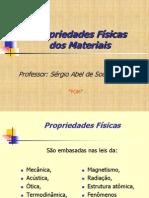 3 aula - Propriedades Físicas