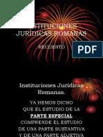 ROMANAS, INSTITUCIONES JURIDICAS