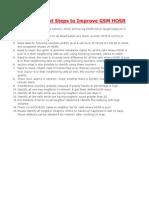 15 Important Steps to Improve GSM HOSR