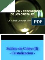 2. Formación y crecimiento de cristales