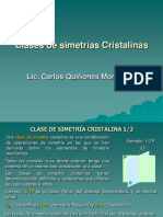 5. Clases de simetrías Cristalinas