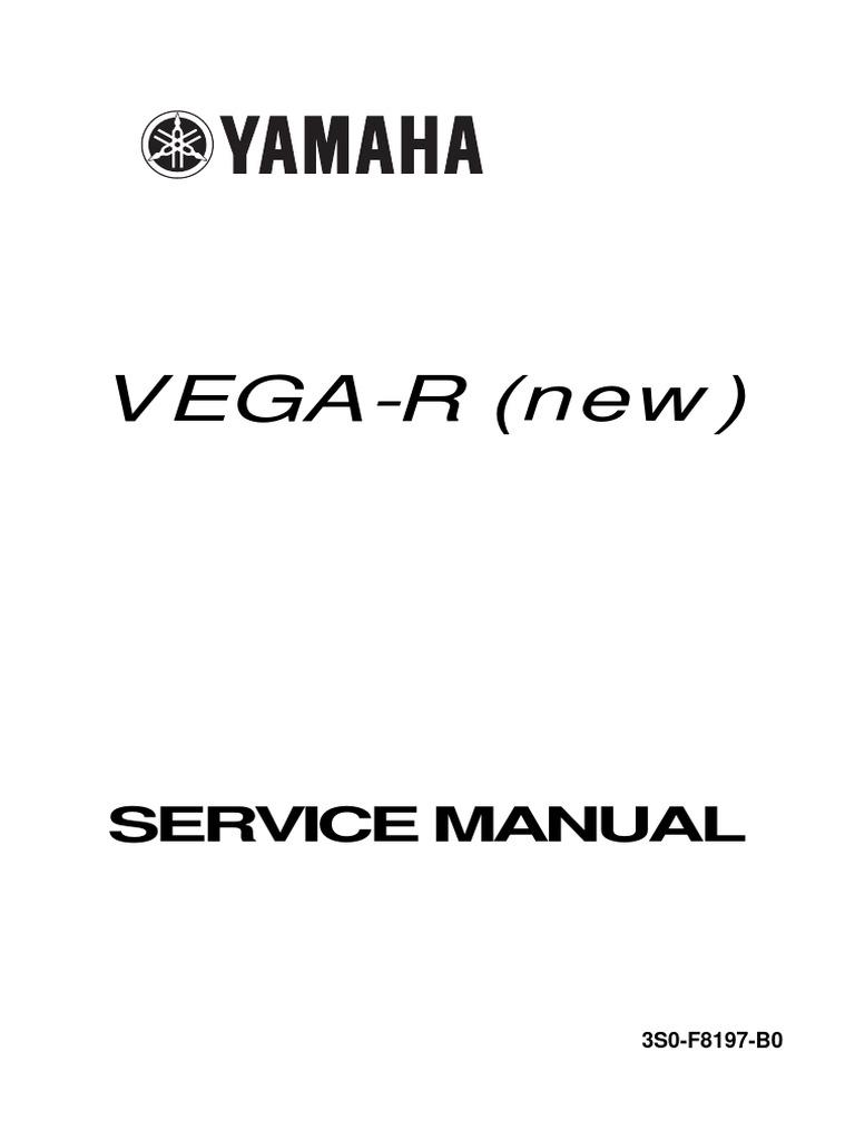service manual vega r new pdf rh scribd com service manual yamaha vega r new yamaha vega r service manual
