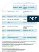 PRC Lucena NLE Passers Initial Registration Schedule