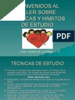 TALLER - TÉCNICAS Y HÁBITOS DE ESTUDIO