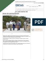 06-11-2013 'Constata Pepe Elías Leal avance de obras de pavimentación'