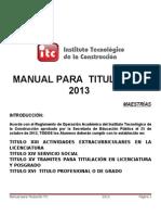 Manual de Titulacion 2013 Posgrados