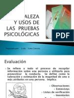 naturaleza y usos de las pruebas psicolgicas