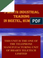 Presentation on my industrial training in R
