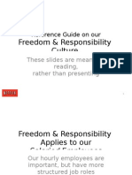 Freedom & Responsibility Culture