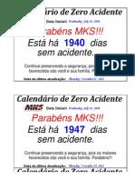 Calendário Zero Acidente