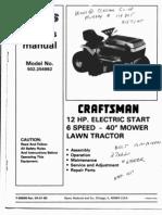 Craftsman Lawn Tractor 502.254982