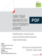 Cartaz Aveiroempreendedor ANDC