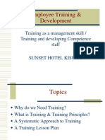 Introduction to Employee Training and Development Sunset Hotel Kisumu.ppt