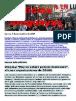 Noticias Uruguayas Jueves 7 de Noviembre Del 2013