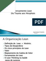 Medologia LEAN da Toyota ás Instituições de Saude