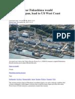 Big Quake Near Fukushima would 'Decimate Japan, Lead to US West Coast Evacuation