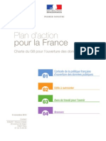 Plan d'action pour la France - Charte du G8 pour l'ouverture des données publiques