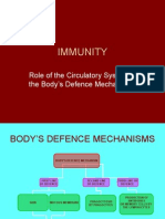 Role of the Circulatory System in the Body's Defence Mechanisms