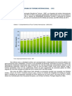 Estatisticas Indicadores Turismo Mundo 2012