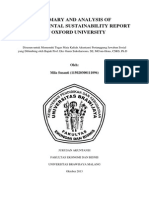 Environmental Sustainability Report of Oxford University