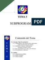 Elementos Subprogramas