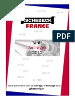 Tarif Ancrage Ischebeck Titan 2012