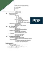 written book report form