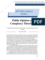 Public Opinion and Conspiracies, AEI Public Opinion Study
