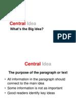 cental idea