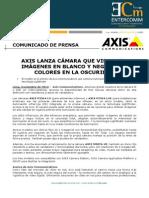 Axis lanza cámara que visualiza imágenes en blanco y negro o en colores en la oscuridad