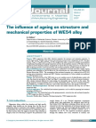 Kielbus_The influence of ageing on structure  and mechanical properties of WE54 alloy.pdf