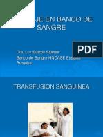 Tamizaje en Banco de Sangre Arequipa