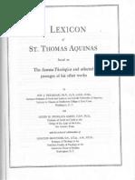 Lexicon of St. Thomas v.  (2) Deferrari