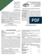 Boletín Oficial del Vigésimo Tercer Domingo después de Pentecostés - Español - 27102013 - Propio 25C