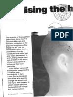Frank Richards (Frank Furedi) - Realising the human potential - Living Marxism - Sep 1991
