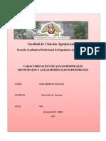 Caracterizacion de Aguas Residuales Municipales y Aguas Residuales Industriales