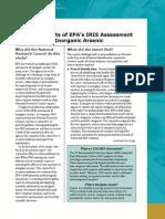 Critical Aspects of EPA's IRIS Assessment of Inorganic Arsenic