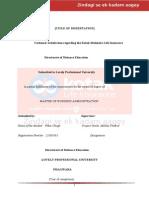 122308058 Customer Satisfaction Regarding Kotak Mahindra Life Insurance