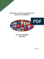 FATF ◊ GAFI. Annual Report 1996 - 1997.
