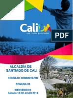 Presentación Acuerdos Consejo Comunitario Comuna 20