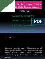 Pencernaan dan Penyerapan Vitamin Larut Air Pada Ternak Unggas.pptx