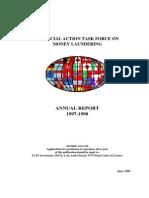 FATF ◊ GAFI. Annual Report 1997 - 1998.