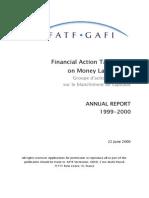 FATF ◊ GAFI. Annual Report 1999 - 2000.
