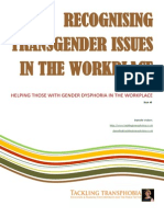 Recognising transgender issues in the workplace.