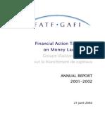 FATF ◊ GAFI. Annual Report 2001 - 2002.