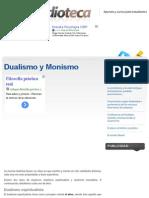 Dualismo y Monismo | Filosofía | Estudioteca