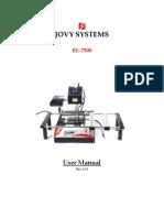 RE 7500 Manual English